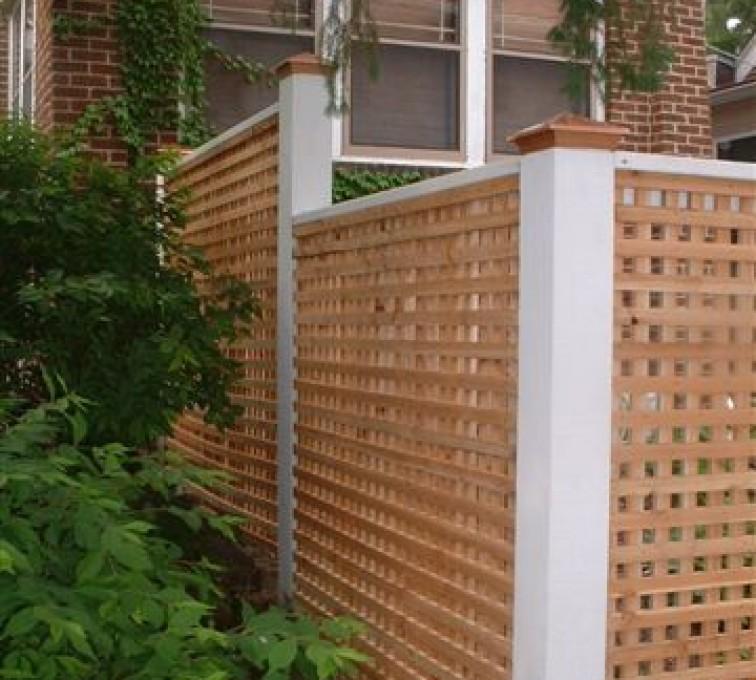 AFC Grand Island - Wood Fencing, 1028 Lattice Fence