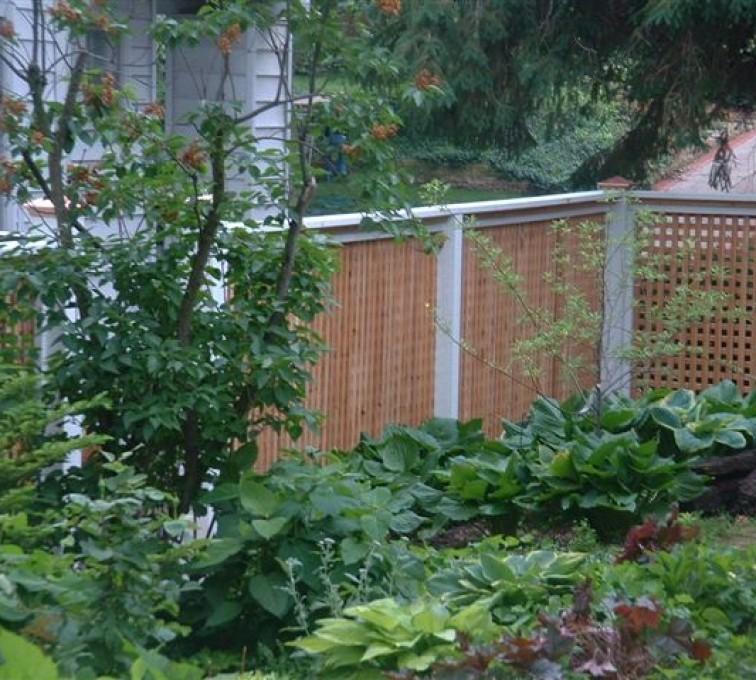 AFC Grand Island - Wood Fencing, 1031 Lattice Fence