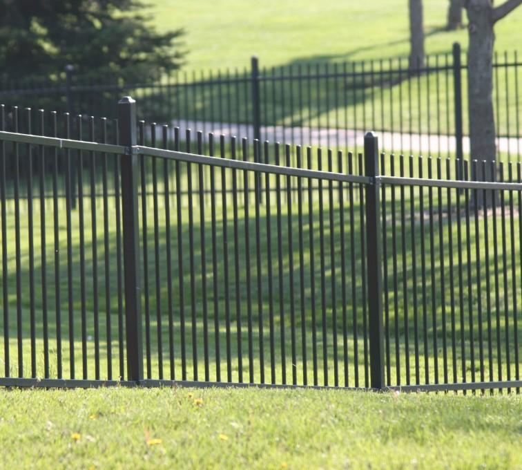 AFC Grand Island - Ornamental Fencing, 1052 4' Genesis 2 rail black