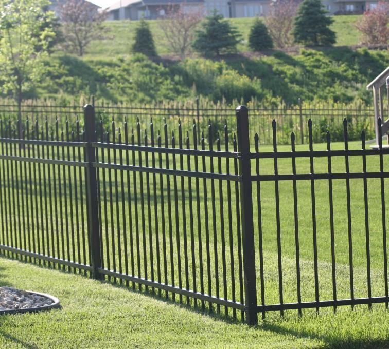 AFC Grand Island - Ornamental Fencing, 1056 4' Warrior 3 rail black