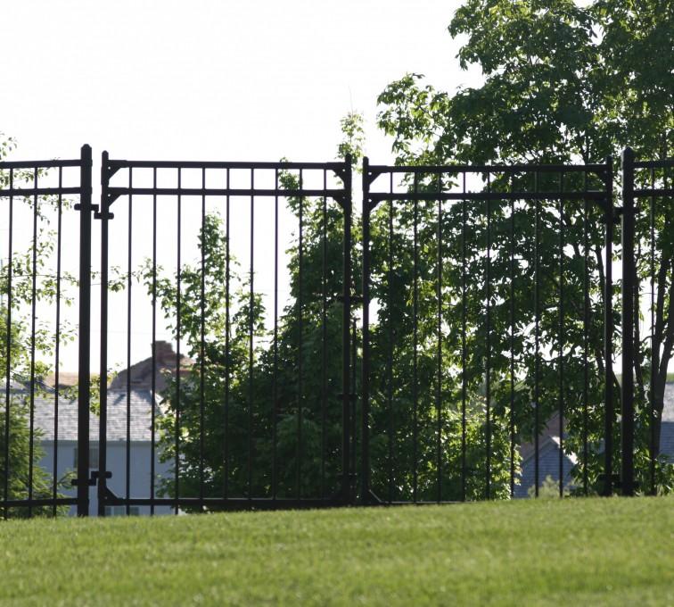 AFC Grand Island - Ornamental Fencing, 1063 6' Majestic 3 rail double drive gate