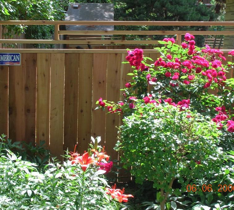 AFC Grand Island - Wood Fencing, 1073 Frank Lloyd Wright Fence