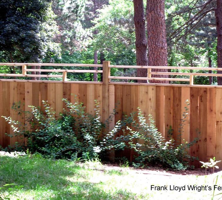 AFC Grand Island - Wood Fencing, 1074 Frank Lloyd Wright Fence