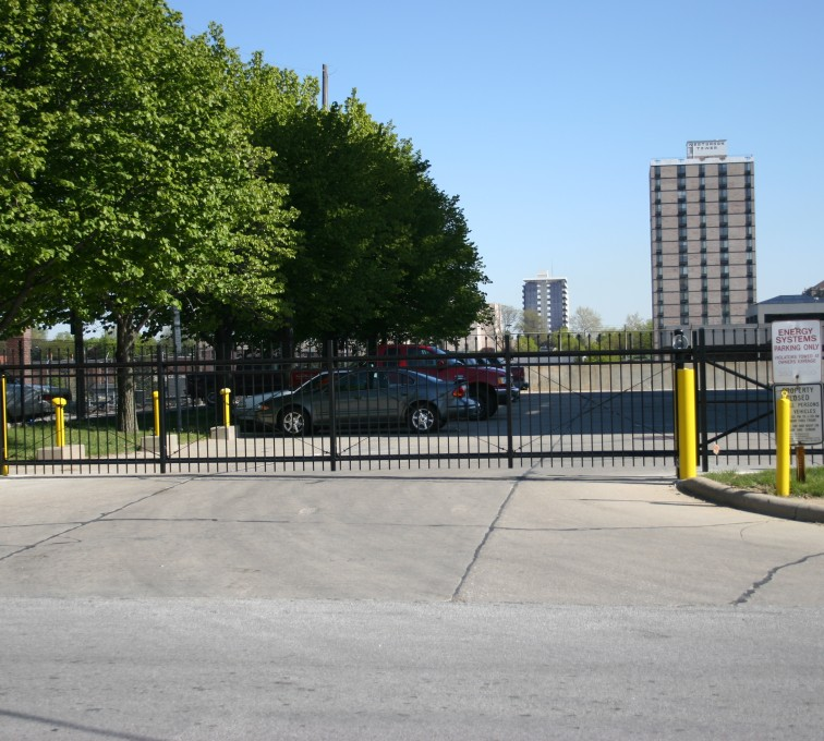 AFC Grand Island - Ornamental Fencing, 1079 Classic Black Gate Energy Services Gate
