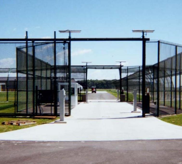 AFC Grand Island - Custom Gates, Estate Telephone Entry, 2110 TyMetal Plus Gate at Prison Sallyport