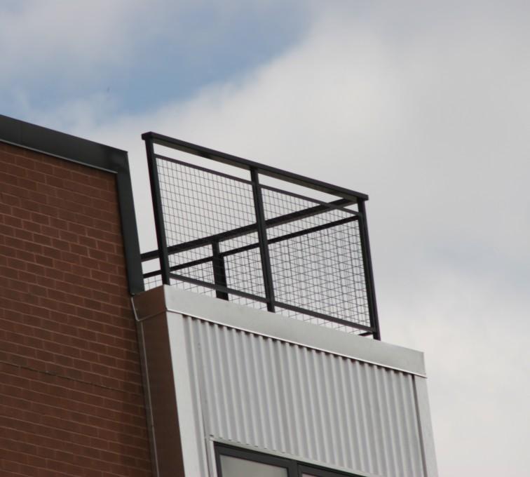 AFC Grand Island - Custom Railing, 2201 Railing with mesh infill