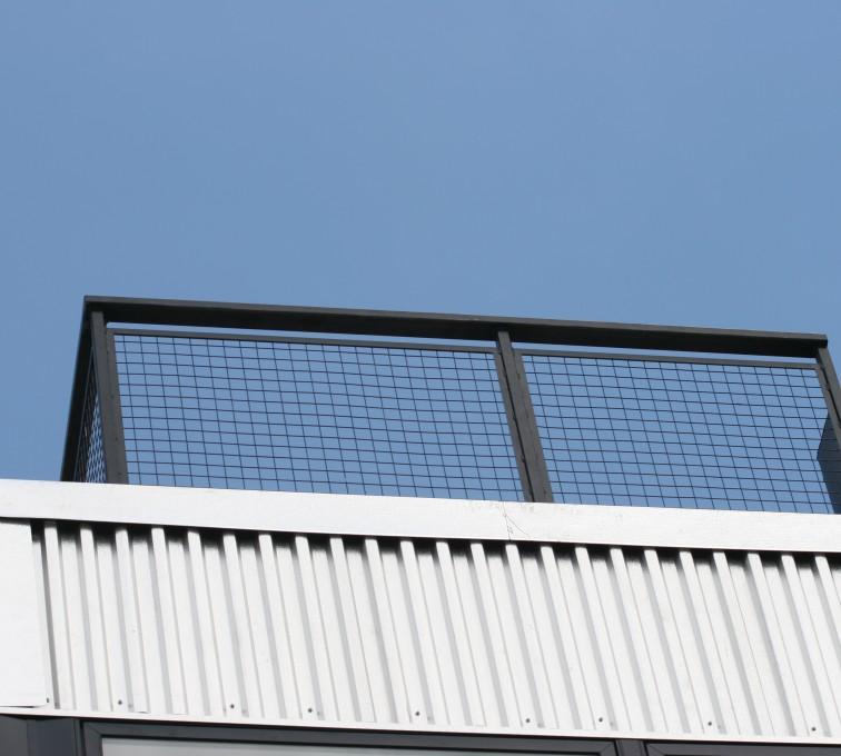 AFC Grand Island - Custom Railing, 2206 Railing with mesh infill