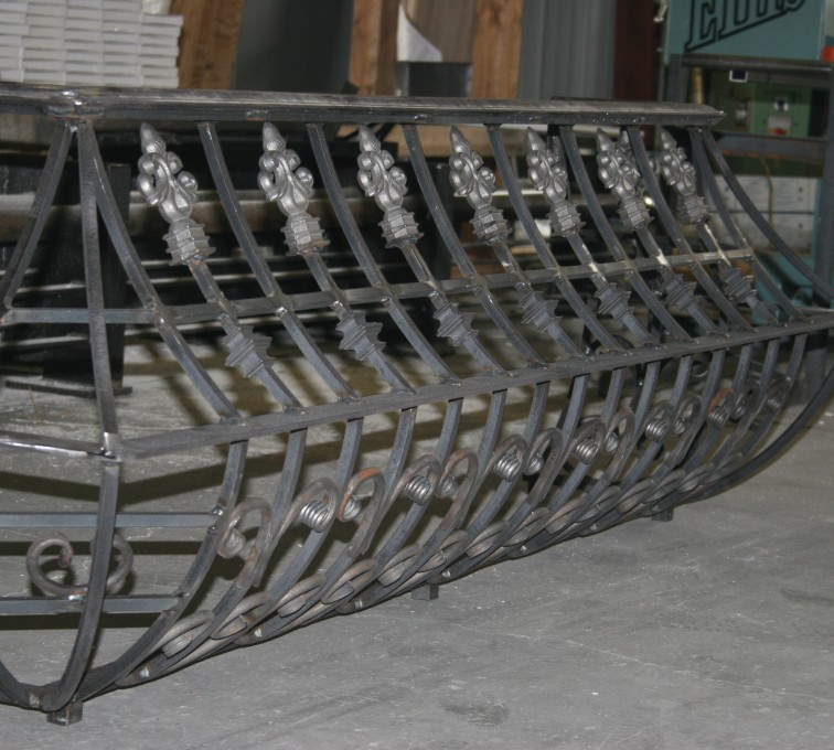 AFC Grand Island - Custom Railing, 2219 Balcony Railing in Fabrication