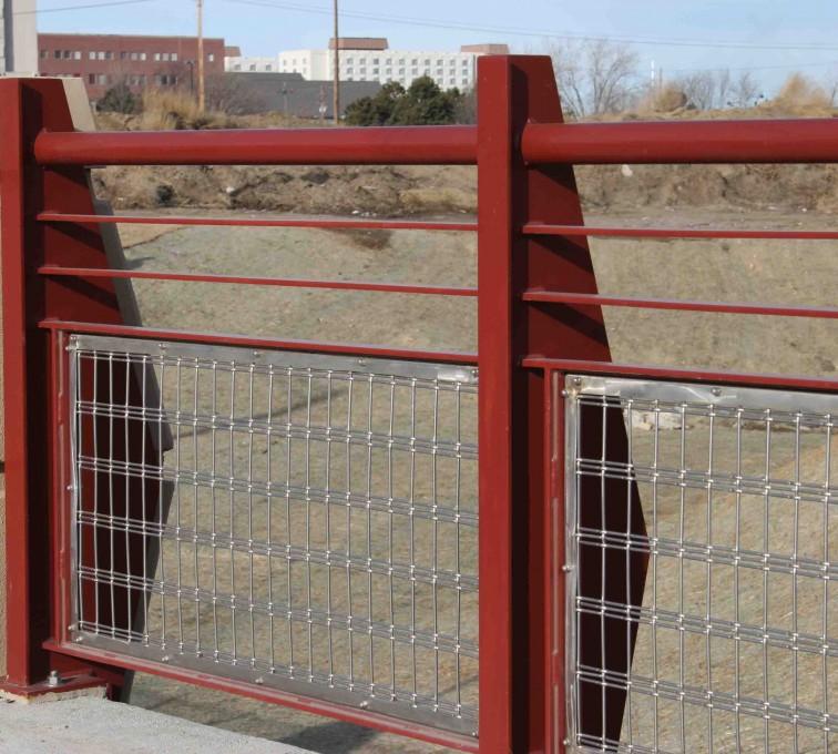AFC Grand Island - Custom Railing, 2224 Stainless Steel In-fill Railing