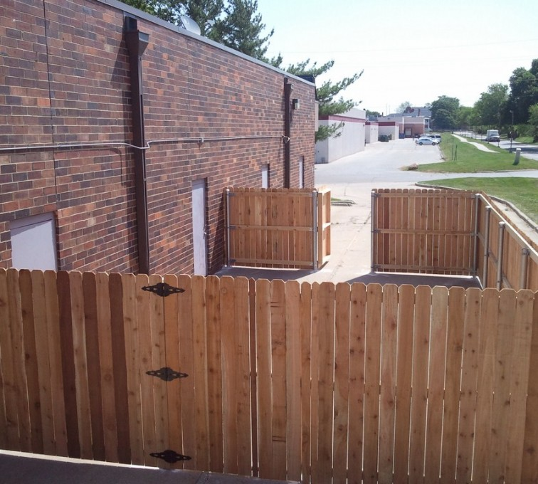 AFC Grand Island - Wood Fencing, 6' Solid Wood with Steel Posts - AFC - IA