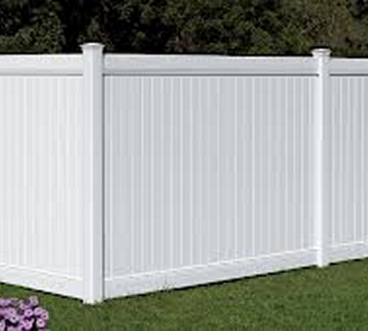 AFC Grand Island - Vinyl Fencing, 6' White Polid Privacy PVC - AFC - IA