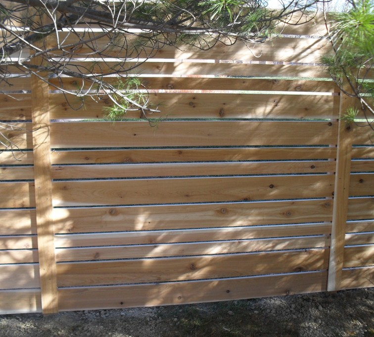 AFC Grand Island - Wood Fencing, 6' Horizontal Wood White B