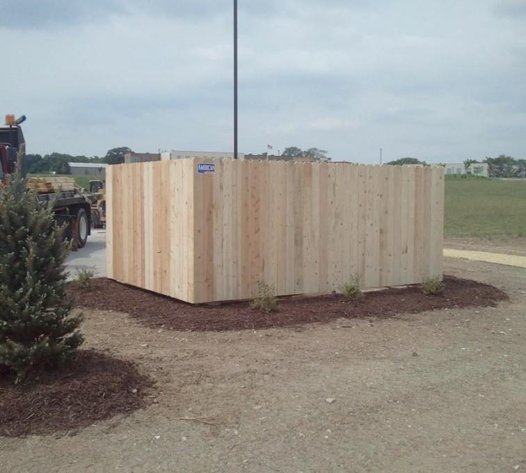 AFC Grand Island - Wood Fencing, 6' Solid Dumpster Enclosure - AFC - IA