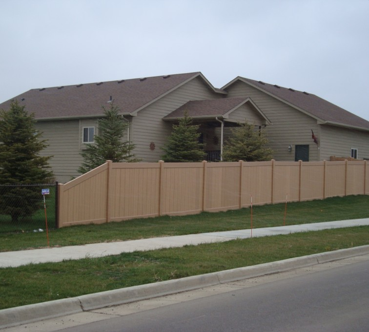AFC Grand Island - Vinyl Fencing, Solid Privacy - Woodland Select (2)
