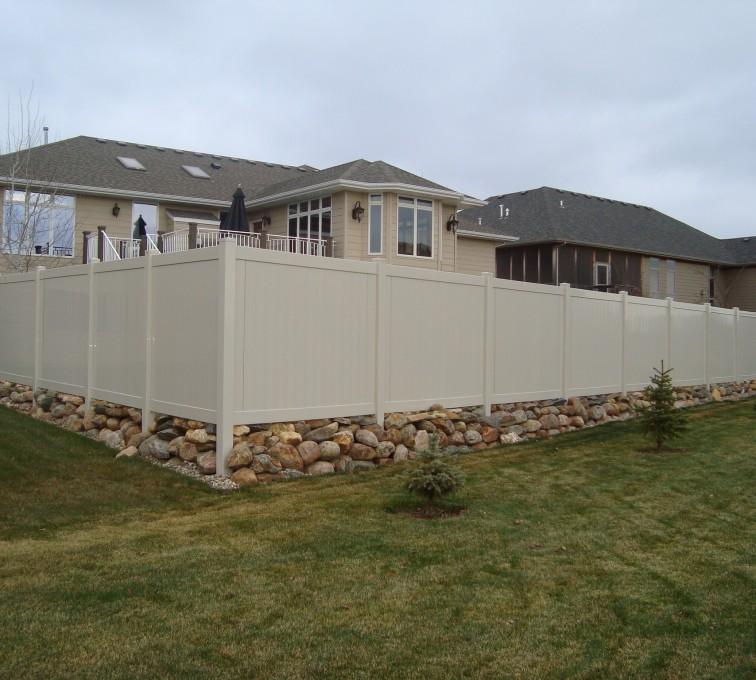 AFC Grand Island - Vinyl Fencing, Vinyl Sandstone Privacy AFC, SD