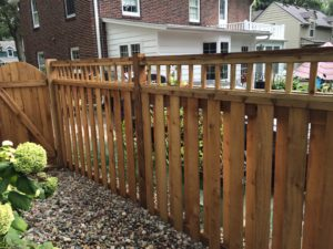 Sioux City wood fence custom with simple lattice